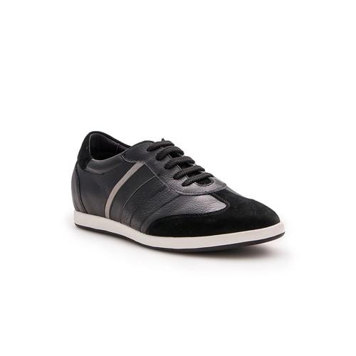 Sneakers in pelle con riser...