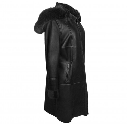 Cappotto in pelle double...