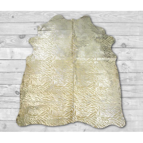 Tappeto in vacchetta naturale 215x170 cm animal print Zerimar - 2