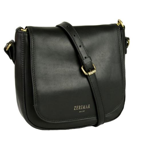 Borsa a tracolla in pelle con tracolla e tasca - 2 colori disponibili Zerimar - 1
