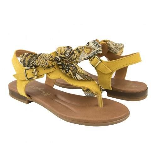 Sandali bassi in pelle con fiocco modello AGRA Zerimar - 1