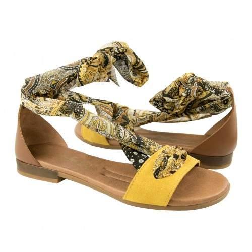 Sandali bassi in pelle con fiocco modello GOA Zerimar - 1