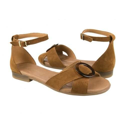 Sandali in pelle annodati alla caviglia modello CERCO Zerimar - 1