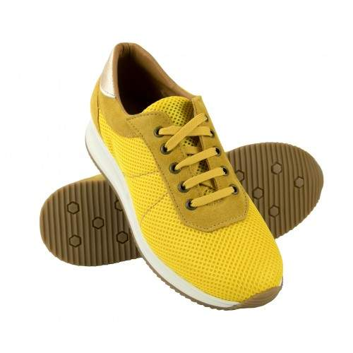Sneakers in pelle abbinate al modello FLY platform Zerimar - 1