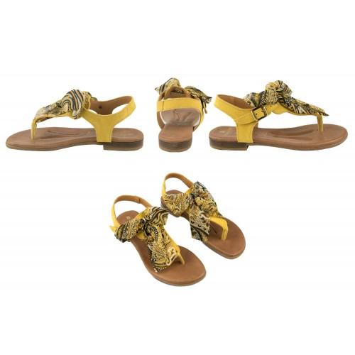 Sandali bassi in pelle con fiocco modello AGRA Zerimar - 2