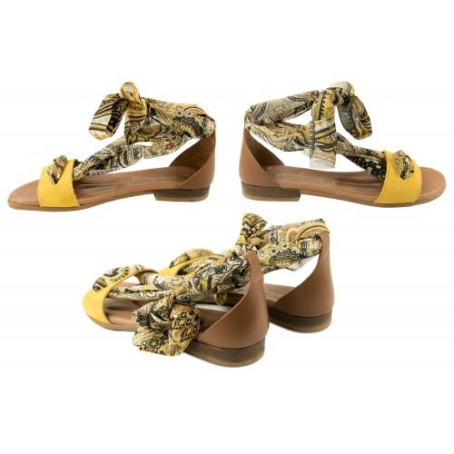 Sandali bassi in pelle con fiocco modello GOA Zerimar - 2