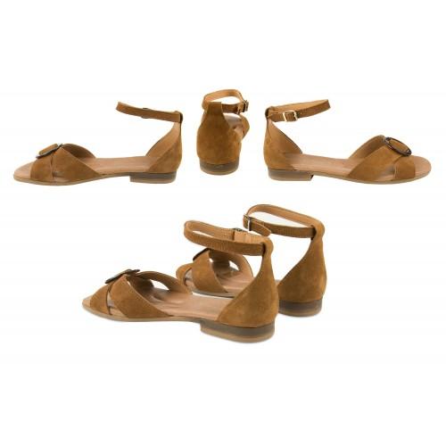 Sandali in pelle annodati alla caviglia modello CERCO Zerimar - 2