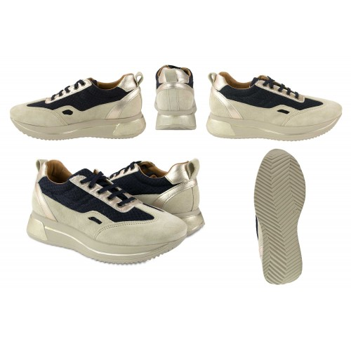 Sneakers in pelle abbinate a platform modello RAID Zerimar - 2